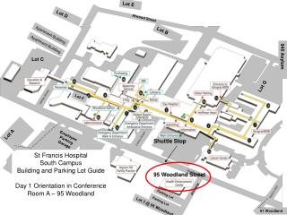 St Francis Hospital South Campus Building and Parking Lot Guide