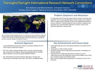 TransLight / StarLight  International Research Network Connections
