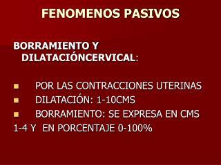 FENOMENOS PASIVOS