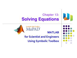 Chapter 13: Solving Equations
