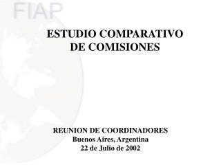 ESTUDIO COMPARATIVO DE COMISIONES