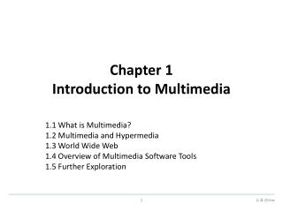 Chapter 1 Introduction to Multimedia