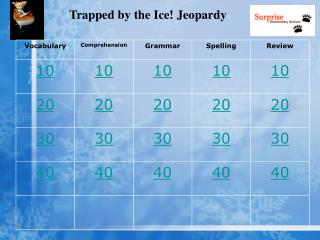 Trapped by the Ice! Jeopardy