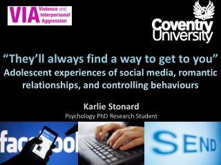 Karlie Stonard Psychology PhD Research Student