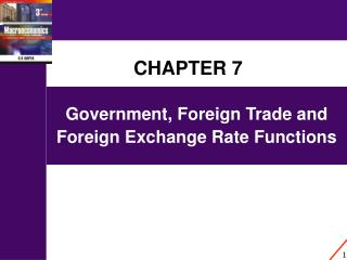 Government, Foreign Trade and Foreign Exchange Rate Functions