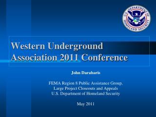Western Underground Association 2011 Conference