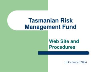 Tasmanian Risk Management Fund