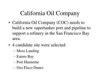 California Oil Company