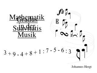 Mathematik in der Musik