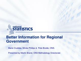 Better Information for Regional Government