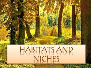 HABITATS AND NICHES