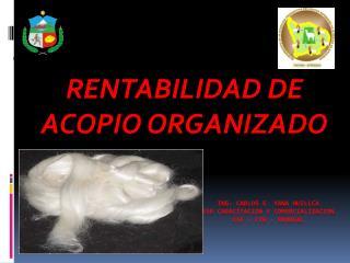 ING. CARLOS E. YANA HUILLCA   ESP CAPACITACION Y COMERCIALIZACION  CSE – CTB – PROREAL
