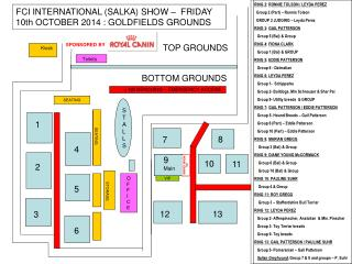 FCI INTERNATIONAL (SALKA) SHOW –  FRIDAY 10th OCTOBER 2014 : GOLDFIELDS GROUNDS