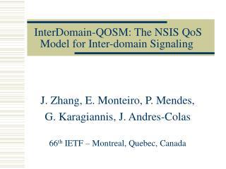 InterDomain-QOSM: The NSIS QoS Model for Inter-domain Signaling