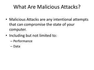 What Are Malicious Attacks?