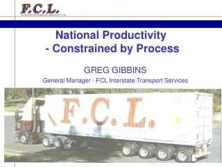 National Productivity  - Constrained by Process