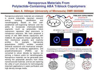 TRIBLOCK COPOLYMERS  polylactide - b - polydimethylsiloxane - b -polylactide  ( PLA - PDMS - PLA )