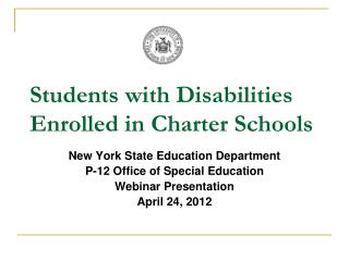Students with Disabilities Enrolled in Charter Schools