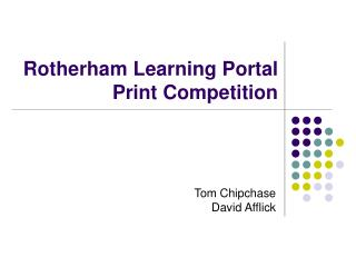 Rotherham Learning Portal  Print Competition