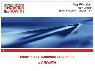 Innovation + Authentic Leadership = GROWTH