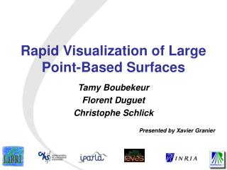 Rapid Visualization of Large Point-Based Surfaces