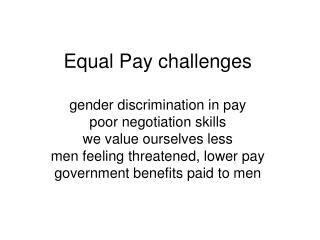 EqualPay Outcomes from Workshop 5March2010