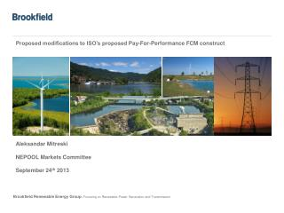 Proposed modifications to ISO's proposed Pay-For-Performance FCM construct