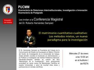 PUCMM Vicerrectoría de Relaciones Interinstitucionales, Investigación e Innovación