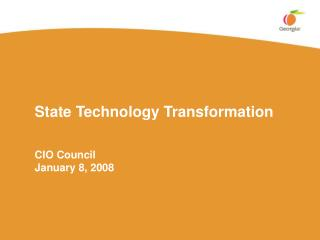 State Technology Transformation