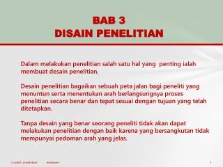 BAB  3 DISAIN PENELITIAN