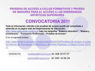 CONVOCATORIA 2011