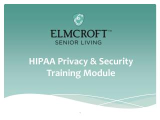 HIPAA Privacy & Security Training Module
