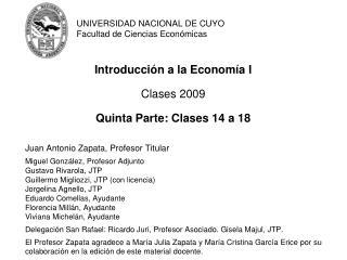 UNIVERSIDAD NACIONAL DE CUYO Facultad de Ciencias Económicas