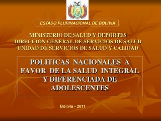 MINISTERIO DE SALUD Y DEPORTES DIRECCION GENERAL DE SERVICIOS DE SALUD UNIDAD DE SERVICIOS DE SALUD Y CALIDAD