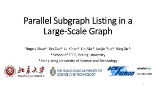 Parallel  Subgraph  Listing in a Large-Scale Graph