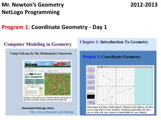 Mr. Newton's  Geometry2012-2013 NetLogo  Programming