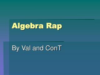 Algebra Rap