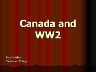 Canada and WW2