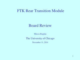 FTK Rear Transition Module