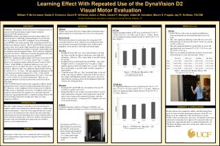 Learning Effect With Repeated Use of the  DynaVision D2  Visual  Motor Evaluation
