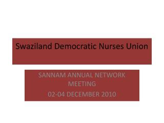 Swaziland Democratic Nurses Union