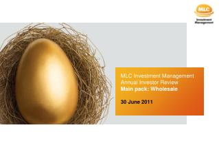 MLC Investment Management Annual Investor Review  Main pack: Wholesale 30 June 2011