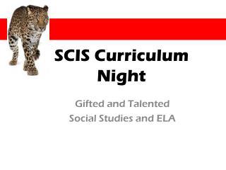 SCIS Curriculum Night