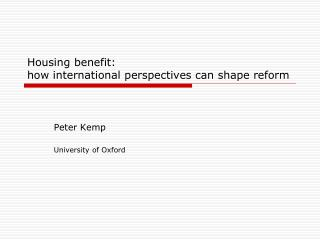 Housing benefit: how international perspectives can shape reform