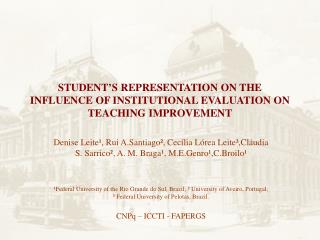 STUDENT'S REPRESENTATION ON THE INFLUENCE OF INSTITUTIONAL EVALUATION ON TEACHING IMPROVEMENT