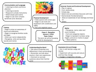 Class 4 - Reception  Autumn 1 2014  Topic: Colour