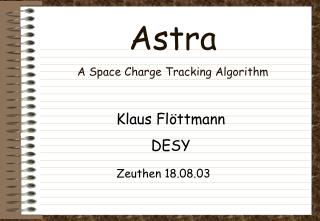 Astra A Space Charge Tracking Algorithm