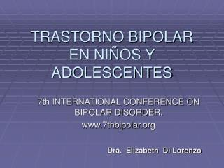 TRASTORNO BIPOLAR  EN NI�OS Y ADOLESCENTES