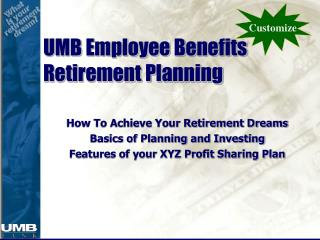 UMB Employee Benefits Retirement Planning