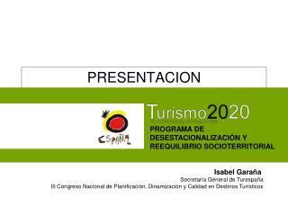 PRESENTACION CONSEJO ESPAÑOL DE TURISMO